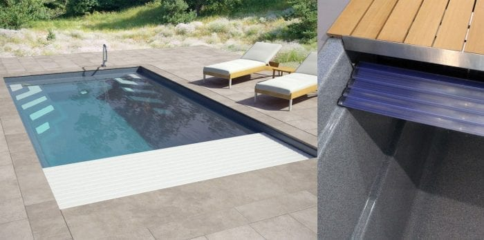 Luxe Slatted PVC Cover System Paramount Pools