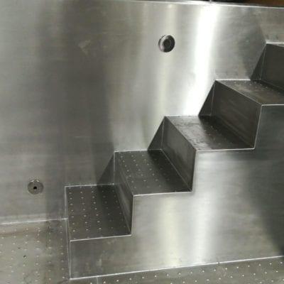 steel pool steps