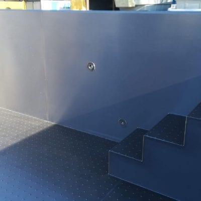 metal pool steps