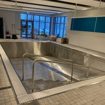 metal pool