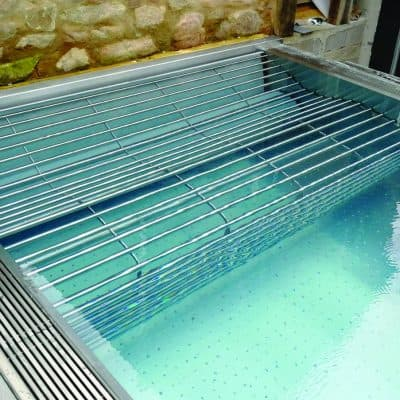 Luxe Stainless Steel Spa grill for overflow pool