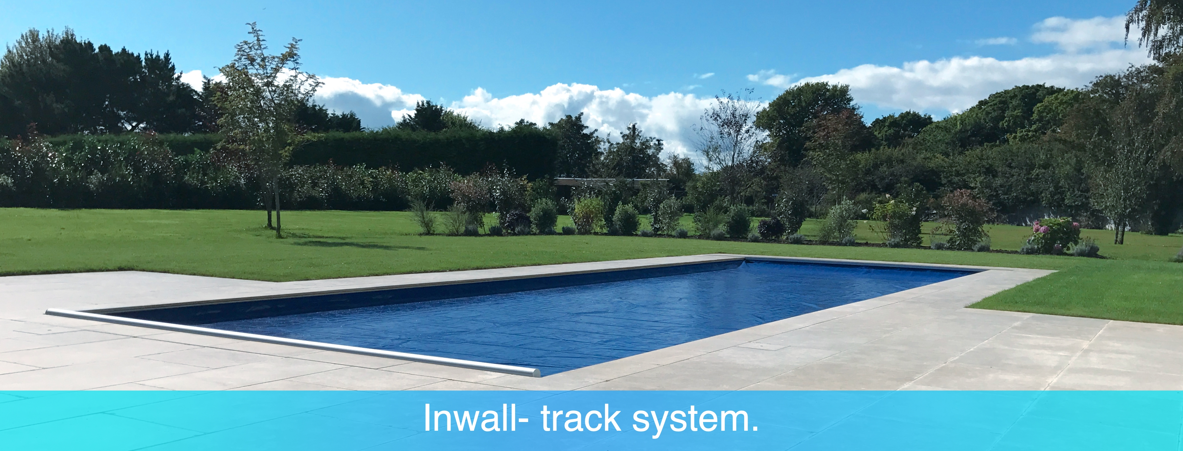 Inwall swimming pool cover