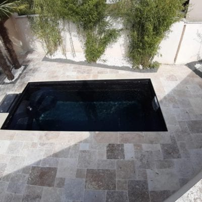 luxe city pool in garden