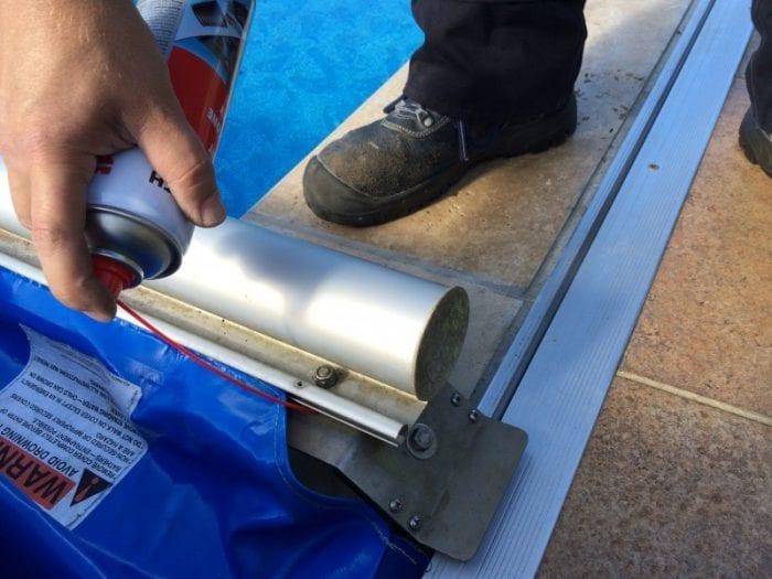 aquamatic pool cover repair