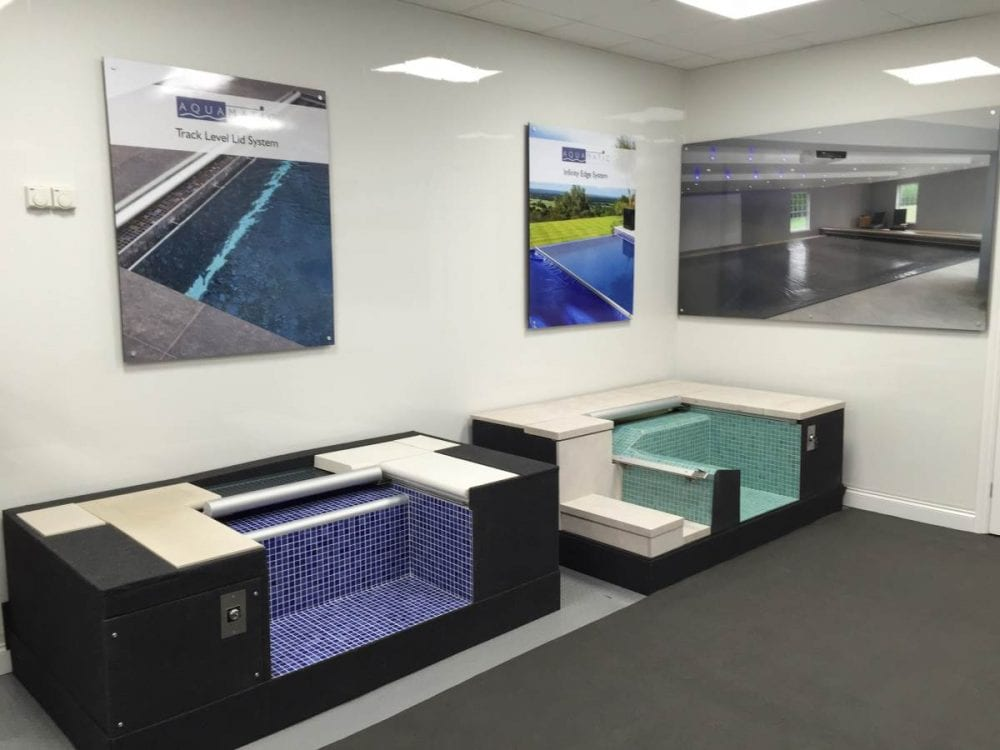 Swimming pool cover demo models