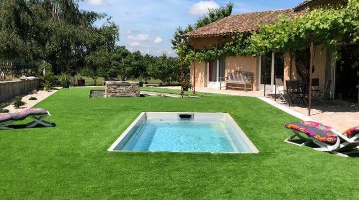 luxe city pool in garden