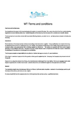 Paramount WT-Terms and Conditions Warranty 15.3.16