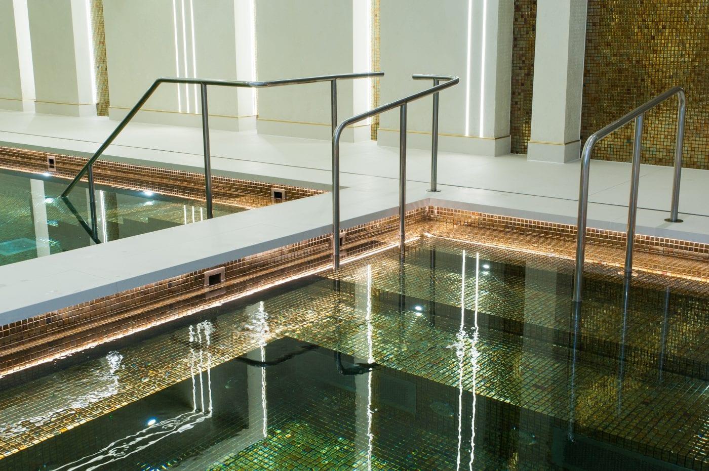 St. George London tiled swimming pool fittings