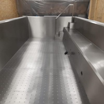 steel framed pool