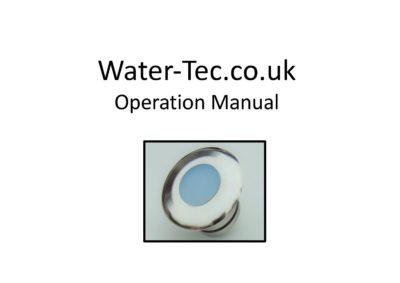Water-tec Operation Manual 2019