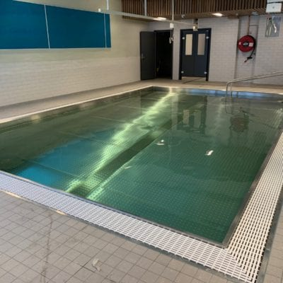 steel framed swimming pool