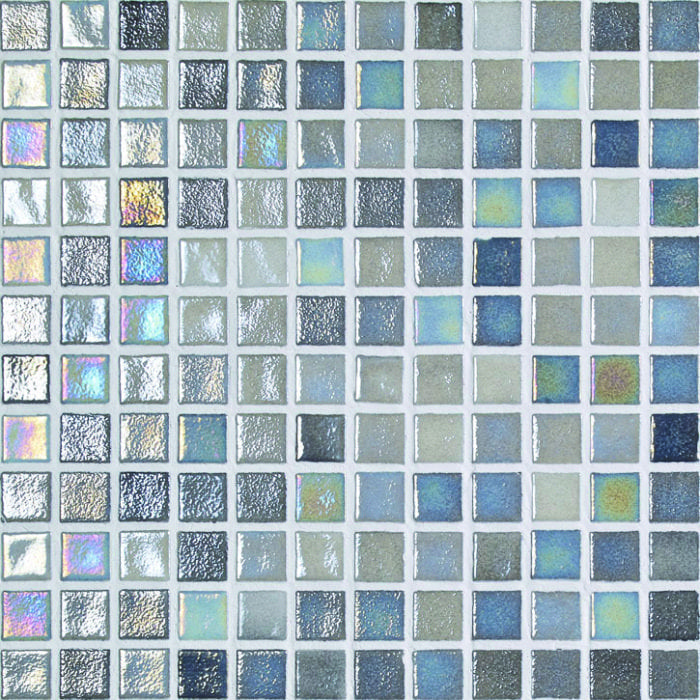 Grey and blue swimming pool mosaic tiles