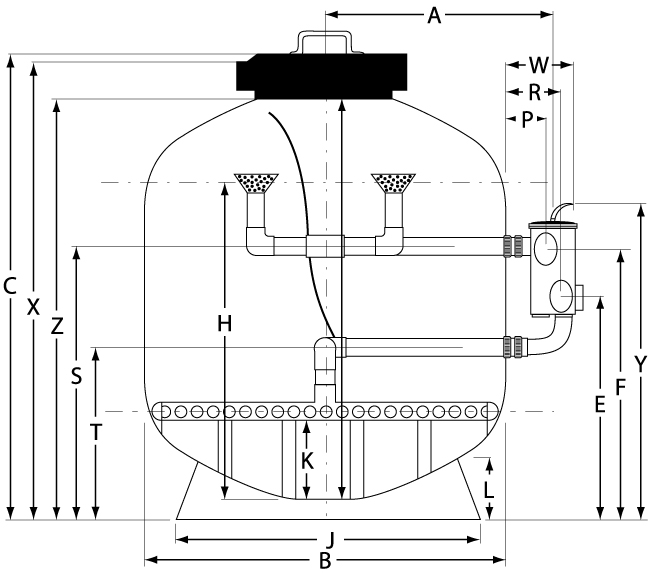 Diagram of waterfilter sizes